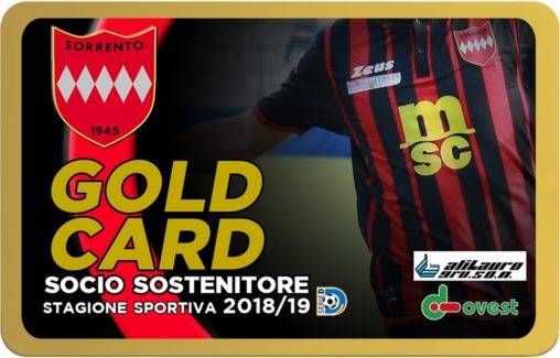 SORRENTO GOLD CARD